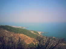 view of the Korean coast from the Buddha statue