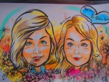 Short Kat and I took our relationship to the next level...caricatures! We definitely got some stares from the real couples there.